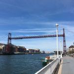 Jakobsweg Kuestenweg Portugalete beide Ufer & Bruecke
